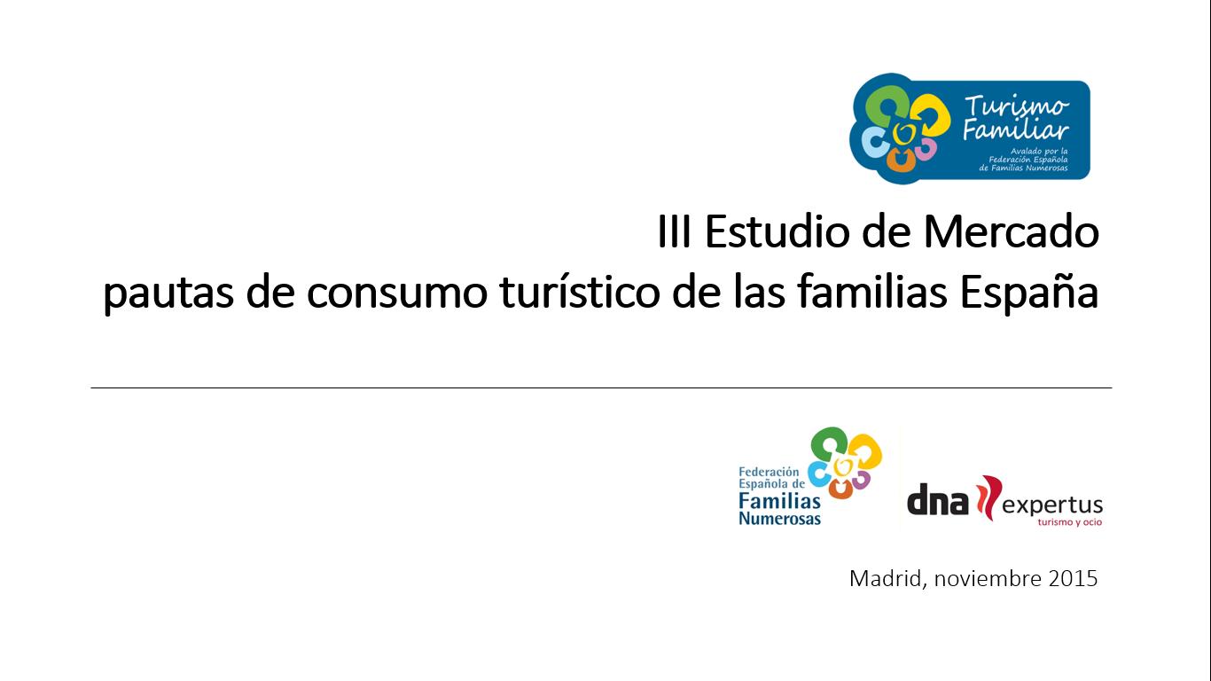 Resultados estudio de mercado de turismo familiar